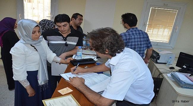 Harran Üniversitesi'nde öğrenci kayıtları başladı