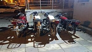 Motosiklet fareleri yakalandı