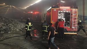 Şanlıurfa'da fabrika yangını
