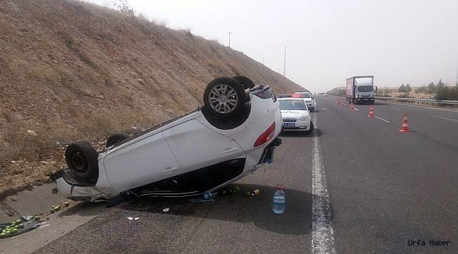 Şanlıurfa'da otomobil devrildi: 1'i ağır 4 yaralı