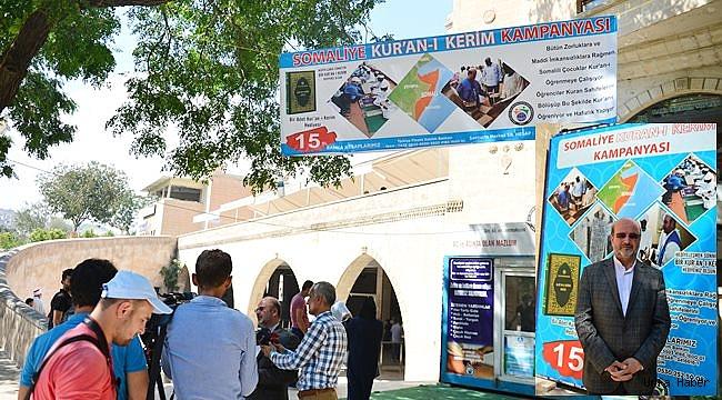 Şanlıurfa'da Somalili hafızlar için Kur'an-ı Kerim kampanyası