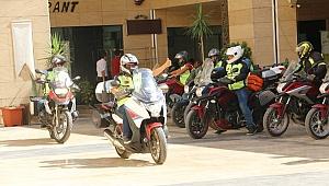 Motosiklet tutkunları Şanlıurfa'da