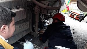 Kazada ağır yaralanan motor sürücüsünden acı haber!