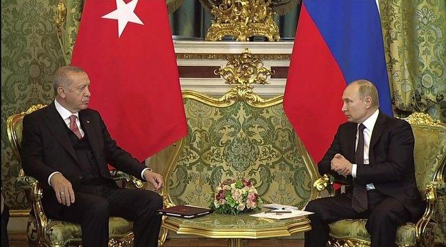 Cumhurbaşkanı Erdoğan ile Putin görüşüyor