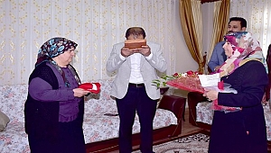 Başkan Aksak'tan şehit annesine ziyaret
