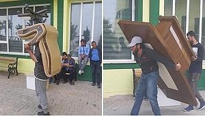Urfa'da Başkanlık koltuğu haciz edildi