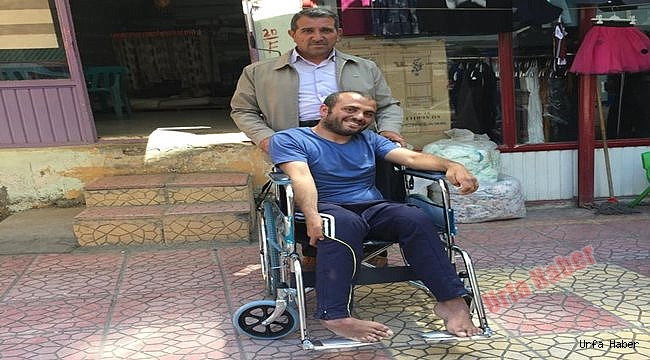 Şanlıurfa'da engelli vatandaşa tekerlekli sandalye desteği