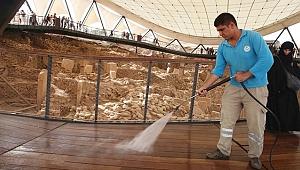 Haliliye Belediyesi'den Göbeklitepe Temizliği