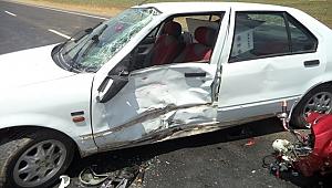 Urfa'da trafik kazası 2 yaralı