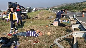 Cenaze dönüşü feci kaza... Ölü ve yaralılar var