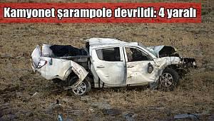 Kamyonet şarampole devrildi: 4 yaralı