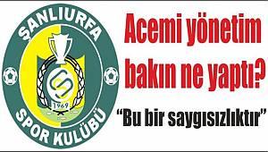Yerel Basından, Urfaspor'a Tepki