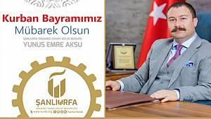 OSB Müdürü Aksu'dan Bayram Mesajı