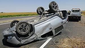 Şanlıurfa'da otomobil devrildi: 5 yaralı