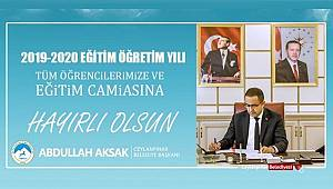 Başkan Aksak'tan yeni eğitim yılı mesajı