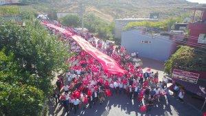 Barış Pınarı Harekatı'na katılan Mehmetçik'e destek yürüyüşü