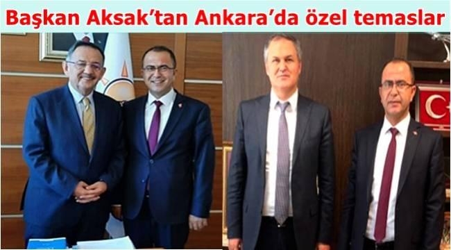 Başkan Aksak'tan Ankara'ya çıkarma