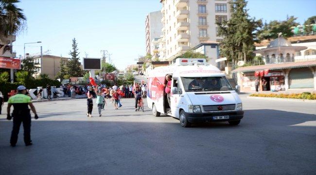Kilis'te Barış Pınarı Harekatı'na destek yürüyüşü