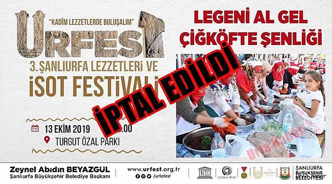 Urfa'da festival iptal edildi