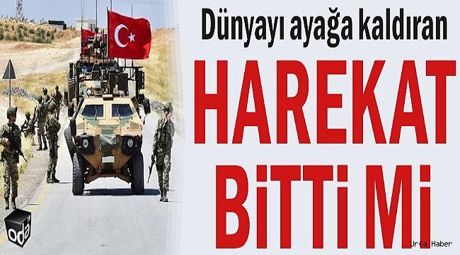 Barış Pınarı Operasyonu Bitti mi?
