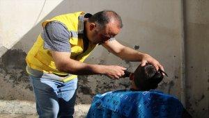 Haliliye Belediyesi'nden yetim çocuklara tıraş hizmeti