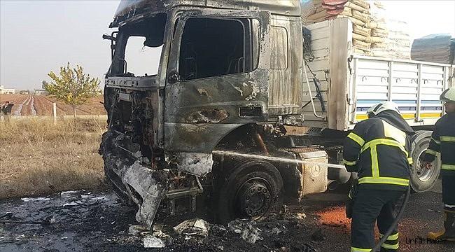 Şanlıurfa'da tır yangını