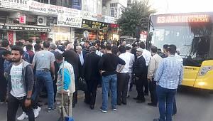 Urfa'da otobüs yayaya çarptı