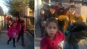17 kişilik okul servisinde 34 öğrenci taşıdılar