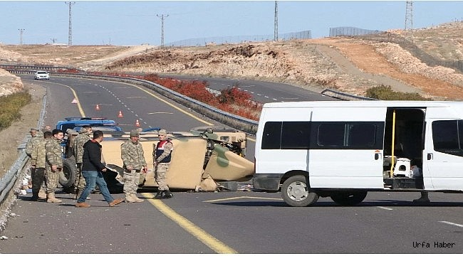 Urfa'da askeri araç devrildi: 4 yaralı