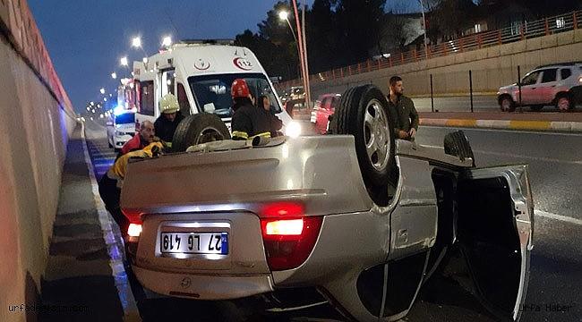 Urfa'da köprülü kavşakta kaza: 1 yaralı