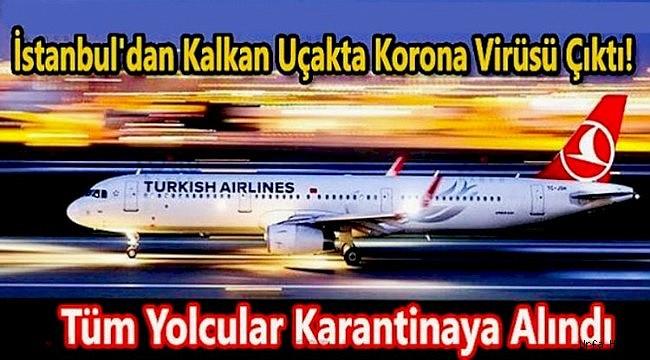 İstanbul'dan Kalkan Uçakta Virüs Tespit Edildi