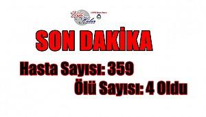 Türkiyede Hasta Sayısı: 359 Ölü 4 oldu