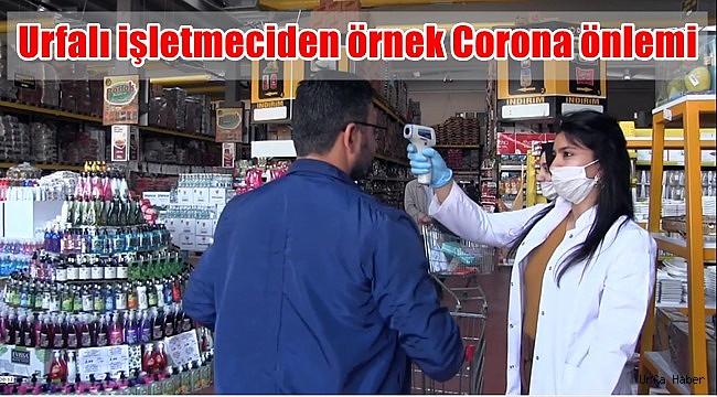Urfalı işletmeciden örnek Corona önlemi