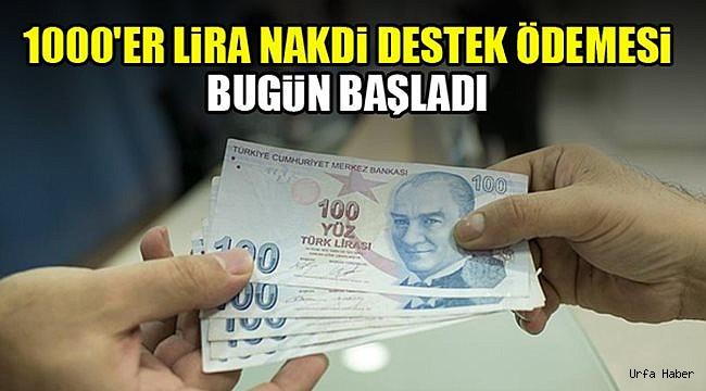 1000'er lira nakdi destek ödemesi bugün başladı