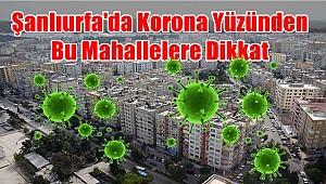 Şanlıurfa'da Korona Yüzünden Bu Mahallelere Dikkat