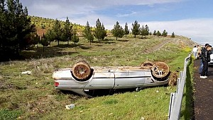 Suruç'ta Otomobil Devrildi 1 Kişi Yaralandı