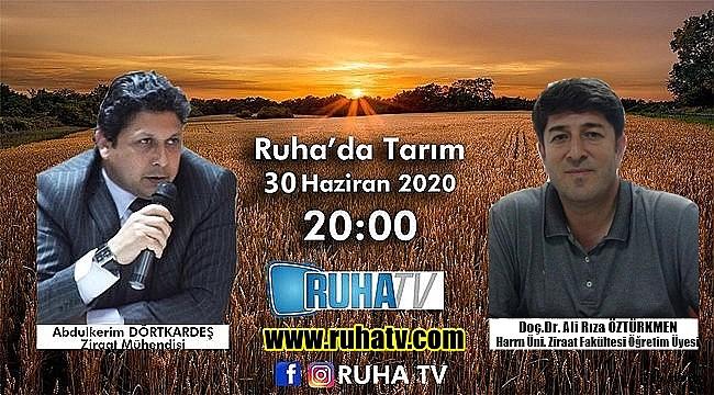 GAP'ta Tarım Ruha TV'de ele alınıyor