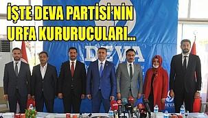 DEVA Partisi Urfa İl kurucularına belgeleri verildi