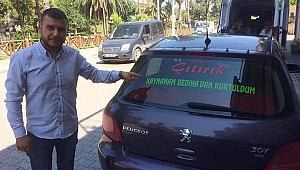 Eşinden ayrıldı, otomobiline bunu yazdırdı