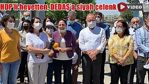 HDP'li heyetten, DEDAŞ'a siyah çelenk