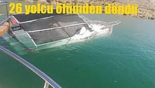 Halfeti'de tekne battı!