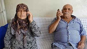 Yaşlı çiftin parasını oğulları kurtardı
