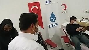 Deva Partisi'nden Urfa'da kan bağışına destek