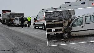 Ticari araç ile tır çarpıştı: 3 yaralı