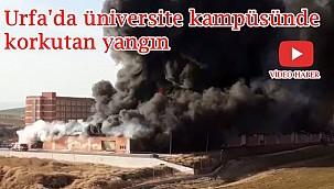Urfa'da üniversite kampüsünde korkutan yangın