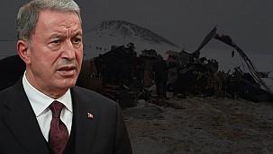 Helikopter kazası neden oldu? Bakan Akar'dan konuya ilişkin açıklama