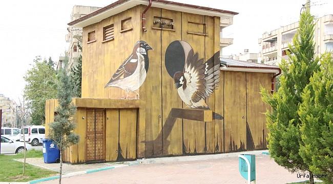 Haliliye'deki trafo duvarları boyanıyor