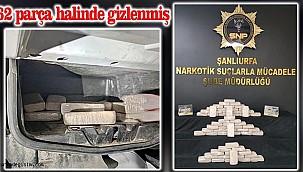 Şanlıurfa'da durdurulan TIR'da 32 kilo eroin yakalandı!
