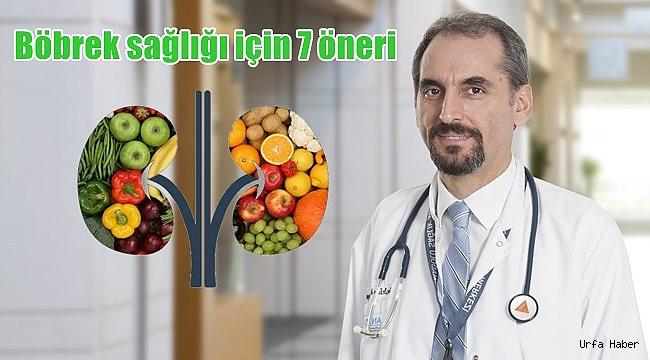 Böbrek sağlığı için 7 öneri