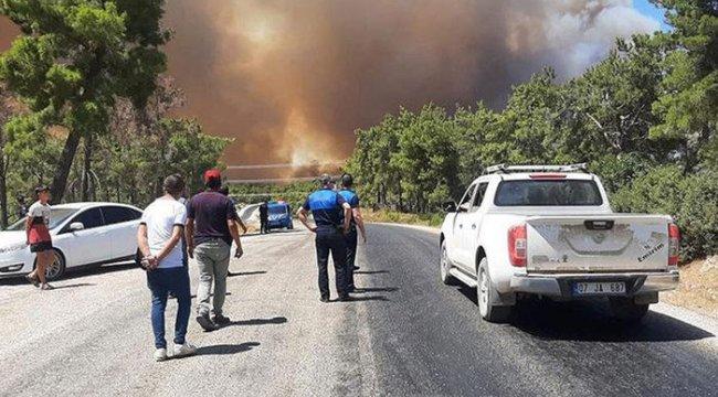 Manavgat'taki yangından korkunç görüntüler